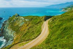 Famous California Highway 1 Royalty Free Stock Image