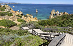 Famous Camilo Beach in Lagos, Algarve. Portugal. Stock Photography