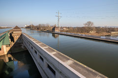 Famous canal crossing minden germany Royalty Free Stock Images