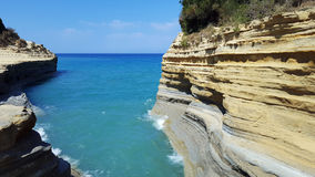 Famous Canal D& x27;amour in Sidari, Corfu Royalty Free Stock Image