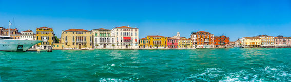 Famous Canal Grande with colorful houses in Venice, Italy Stock Photography