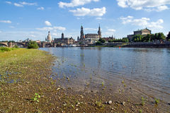 The famous Canaletto view of Dresden Royalty Free Stock Images