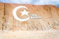 Famous Canoa Quebrada beach logo in ceara s