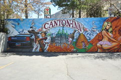 Famous Canyon Inn Mural Royalty Free Stock Images