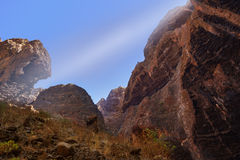 Famous canyon Masca at Tenerife - Canary Royalty Free Stock Images