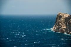 Famous Cap de Formentor, Mallorca island, Spain. Famous Cap de Formentor, cliff on the northern part of Mallorca island, Spain. Big rocky mountains with Royalty Free Stock Images