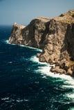 Famous Cap de Formentor, Mallorca island, Spain. Famous Cap de Formentor, cliff on the northern part of Mallorca island, Spain. Big rocky mountains with Stock Image