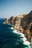 Famous Cap de Formentor, Mallorca island, Spain. Famous Cap de Formentor, cliff on the northern part of Mallorca island, Spain. Big rocky mountains with Stock Photography