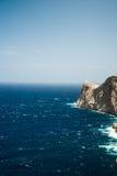 Famous Cap de Formentor, Mallorca island, Spain. Famous Cap de Formentor, cliff on the northern part of Mallorca island, Spain. Big rocky mountains with Royalty Free Stock Image