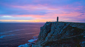 Famous Cape Pen Hir at sunset, France. Royalty Free Stock Photos