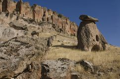 Famous Cappadocian landmark - rock-cut christian church,Turkey Stock Photography
