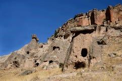 Famous Cappadocian landmark - rock-cut christian churches in Ihlara Valle Royalty Free Stock Photos
