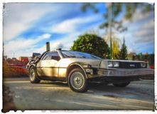 Back to the Future royalty free stock photo