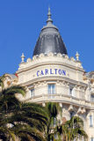 The Famous Carlton Hotel in Cannes Stock Images