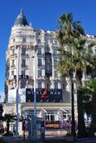 Famous Carlton Hotel in Cannes Stock Images