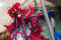 Famous carnival with beautiful masks in Venice, Italy Stock Images