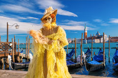 Famous carnival with beautiful masks in Venice, Italy Royalty Free Stock Photos