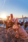 Famous carnival with beautiful masks in Venice, Italy Royalty Free Stock Images
