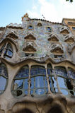 The famous casa Battlo building designed by Antonio Gaudi in Barcelona. Royalty Free Stock Photos