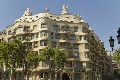 Famous Casa Mila in Barcelona by Gaudi Royalty Free Stock Image