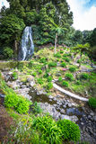 Famous cascade at Sao Miguel Island,Azores,Portugal Stock Image