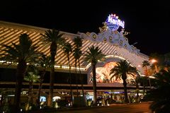 Famous casino in las vegas at night royalty free stock photo