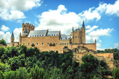 The famous castle Alcazar of Segovia, Spain Stock Photo