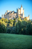 The famous castle Alcazar of Segovia, Spain Royalty Free Stock Images