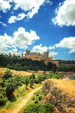 The famous castle Alcazar of Segovia, Spain Royalty Free Stock Image
