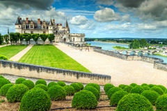 Famous castle of Amboise,Loire Valley,France,Europe Stock Image