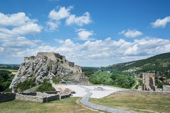 Famous castle Devin near Bratislava Royalty Free Stock Images