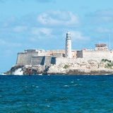 The famous castle of El Morro in Havana Royalty Free Stock Photography