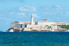 The famous castle of El Morro in Havana Royalty Free Stock Image