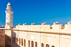 The famous castle of El Morro,a symbol of Havana Royalty Free Stock Image