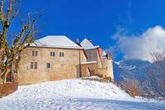 Famous Castle of Gruyeres in Switzerland Stock Photo