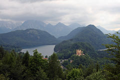 The famous castle hohenschwangau of king Ludwig Royalty Free Stock Images