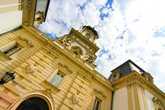 Famous castle in Keszthely. Hungary, Europe Royalty Free Stock Photography