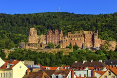Famous castle ruins, Heidelberg, Germany Stock Images
