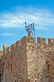 Famous castle of Templar knights at Nafpactos Royalty Free Stock Image
