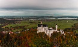 Neuschwanstein in Fussen stock photos