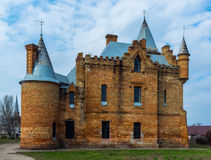 Famous castle in Ukraine over beautiful blue cloudy sky Royalty Free Stock Photo
