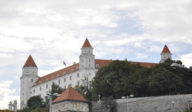 Famous Castle view from Bratislava in Slovakia Stock Photos