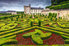 Famous castle of Villandry,Loire Valley,France,Europe Stock Photos