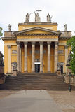 Famous Cathedral basilica of Eger Stock Photos