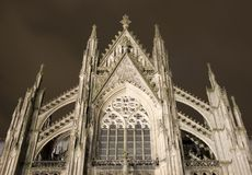 The famous cathedral of Cologne. (Kolner Dom Royalty Free Stock Images