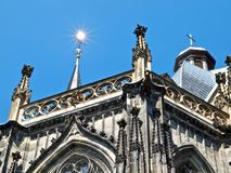 Famous cathedral or dome of Aachen in Germany stock photos