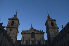 Famous cathedral in the Escorial. Royalty Free Stock Photos