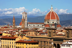 Famous cathedral in Florence Stock Photos