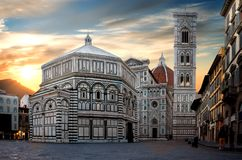 Famous Cathedral in Florence royalty free stock photos