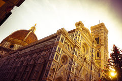 The famous cathedral in Florence Stock Photos